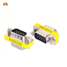 2pcs VGA Gender Changer male female conversion connector welding-free solderless contact DB15 end-to-end needle display adapters(China)