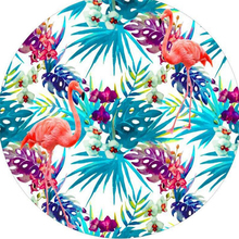 1 Pcs Round Beach Towel 150cm Diameter Colorful Floral Brids Printed Microfiber Fabric Tassel Bath Towel Beach Decorative Towels