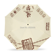 Free Shipping Anime Manga Kids Folding Shingeki no Kyojin Attack on Titan Umbrella 016(China)