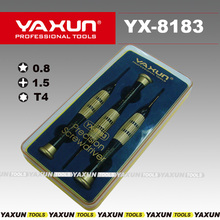 YAXUN YX8183 precision high quality screwdriver set T4 +1.5 pentalobe 0.8 for iphone samsung,professional mobile  repair tool