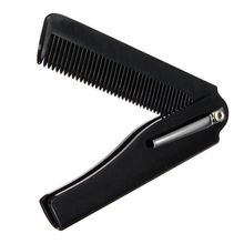 Hot Fashion Mens Womens Handmade Folding Pocket Clip Hair Moustache Beard Comb hair comb