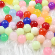Choice Size 6.8.10.12.14.16.18 20mm Mixed Color Jelly Style Acrylic Round Beads AAA Beads for kids Necklace DIY Jeweley (K01739)