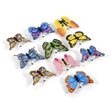 10pcs LED Butterfly Color Changing ABS Butterfly LED Stickers On The Ceiling Magic Change Coloful Wall Lighting Sticker As Gift