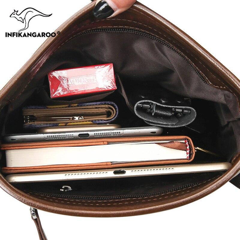 39bdd6ef94 2018 Business OL Men Satchels Messenger Bags Travel High Quality Male  Shoulder Bag Fashion Vintage Men s Soft Crossbody Bag