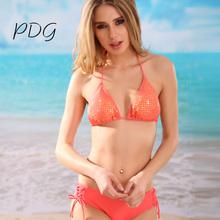 Buy pdg bikinis Women Swimsuit 2017 New Summer Vintage Print Bikinis Sport Bottoms Bikinis Set Swim suit for $22.60 in AliExpress store