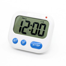2017 Vibration Alarm clock Luminova LED Digital Timer Electronic Candy Watch Desktop Display Student Clock Desk Gadgets(China)