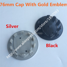 Free By DHL 400pcs 76mm New Car Styling Silver/Grey/Black/Chrome wheel Centre Cap Caps Cover Badge Emblem Auto Logo