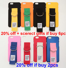 Korea Super Popular Second Unique Name Canvas Arm Belt Tassels PC Case With Fabric Art Ring for iPhone 6 6S 6Plus 7 7Plus