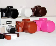 Free Shipping PU Leather Camera Bag for Olympus Pen Lite E-PL7 Black/Brown/ White/Coffee/White EPL7 Case