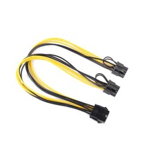 CPU 8Pin to Graphics Video Card Double PCI-E PCIe 8Pin ( 6Pin + 2Pin ) Power Supply Splitter Cable Cord