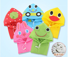 Hot sale children Rainwear kawaii Cartoon Rainsuit long sleeve hooded funny kids waterproof Raincoat poncho