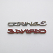 1 Piece Word Carina Emblem Custom Nameplate ABS Chrome 3D Letter Sitckers Auto Tail Badge For Car Styling Decal