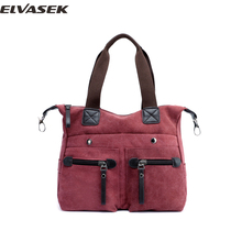 ELVASEK Women's canvas handbag massenger bag fashion multiple colour popular casual concise high capacity bag for women A3721/K(China)