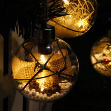 4Pcs LED Xmas Decoration Magic Ball Light 8cm Fairy Transparent  Holiday Ornaments Lamp 4 Type For Festival Party Wedding Decor