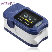 ACEVIVI Oximetro Pulse Oximeter De Pulso De Dedo Fingertip Pulse Oximeter Blue Color Pulsioximetro Oled Heart Rate Monitor(China)