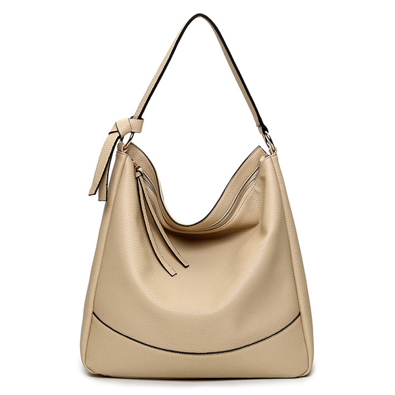 Fashion Solid Big Handbag Zipper Female Luxury Totes Shoulder Big Handbags Girls Bags Women Crescent Package Single Shoulder Bag<br><br>Aliexpress