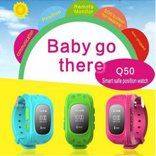 Shenzhen factory cheap children anti-lost GPS tracker Android and IOS smart watch Q50 kids GPS watch