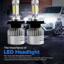 Buy Car-styling 110W H4 COB LED 16000LM Auto Car Headlights Kit Driving Bulbs Lamps 6000K 713 LEVERT DROPSHIP for $15.28 in AliExpress store