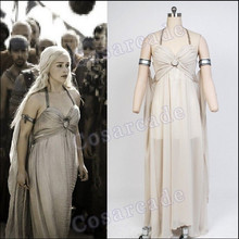 A Song of Ice and Fire Cosplay Daenerys Targaryen Game of Thrones Chiffon Dress(China)