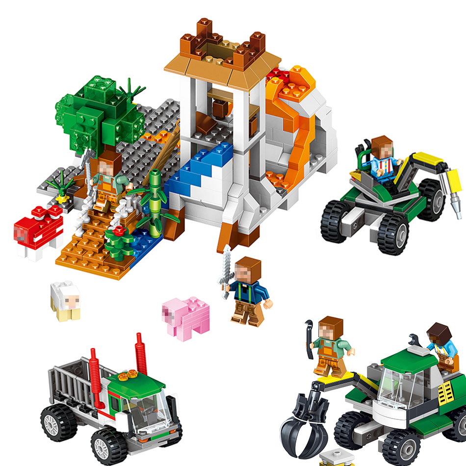 649PCS My World Volcanic Building Block Bricks Compatible With Legoing Figures Minecrafter DIY Birthday Gift Toys For Children<br>