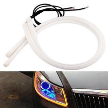 GQMML Wholesale 2PCS\Lots New DIY Flexible LED Tube Strip Angel Car Fashion Styling Parking Lamps Daytime Running Lights Z4025(China)