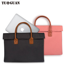 TUGUAN Waterproof Men/Women laptop Bags Computer Case Handbag Business Briefcase 13/14/15 Inches for Male Portable Notebook bag