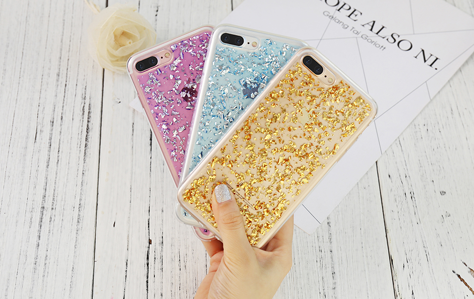 DOEES For iPhone 7 6 6S Plus 5 5S SE Case Luxury Cute Glitter Clear Case For Samsung Galaxy S8 Plus S7 S6 Edge S5 Note 7 5 Back Cover (20)