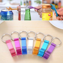 1pc 2016 New Pocket Key Chain Beer Bottle Opener Claw Bar Small Beverage Keychain Ring Random Color