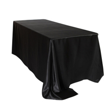 5pcs/ Pack 60 x 126 inch Rectangular Satin Tablecloth White/Black Table Cover for Wedding Party Restaurant Banquet Decorations(China)