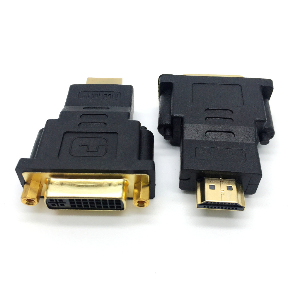 1pcs 1080P Gold Plated DVI 24+5 Male to HDMI Female Converter HDMI to DVI Adapter Conveter for HDTV LCD Computer Projector(China (Mainland))