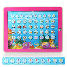 Educational Study Learning Machines English Spanish Language Pad Bilingual Music Toys Multifunction Tablet Computer Toy Y-pad(China)