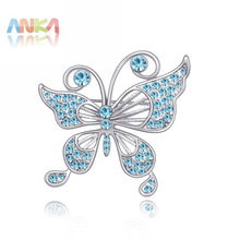 2017 Rushed Time-limited Romantic Women Brooch Broches Hijab Broche Holiday Sale Graceful Butterfly Crystal Brooch #86544