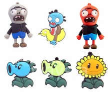 6 style Mixed batch Plants vs zombies Pen Drives Memory Cartoon USB FLASH DRIVE 1gb 2gb 4gb 8gb 16gb 32gb Pendrive 50pcs/lot(China)