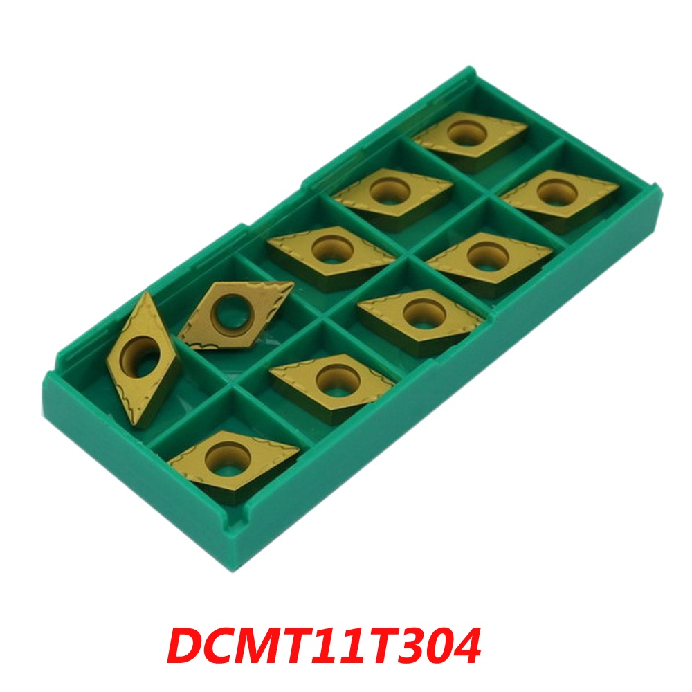 Free shipping CNC turning inserts DCMT11T304 for lathe machine suitable  SDJC/SDNCN/SDQC turning face external lathe tools<br>