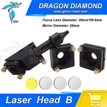 High Quality Co2 Laser Head Set 50.8mm 2'' Lens D20D25 Mo Mirror laser head+mirror mount*2 for CO2 Engraver Cutter