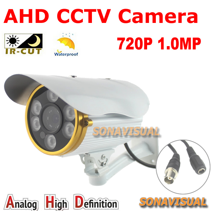 High quality! 6pcs array leds Day night vision AHD Camera 1/4CMOS Sensor 720P Outdoor IRCUT Filter waterproof 1.0MP AHD Camera<br><br>Aliexpress