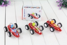 baby wooden racing car toys /pull back wood vehicle Sports car toys/ Kids Child Christmas gifts / box packing, fast shipping