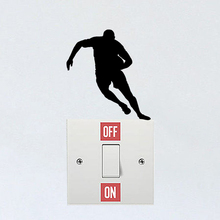 Rugby Player Fashion Sport Personality Vinyl Wall Sticker Switch Decal 6SS0132