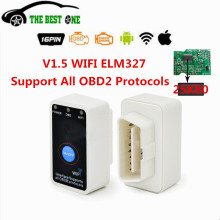 Hot Sale Super Mini ELM327 Code Reader Scanner WIFI ELM 327 With Switch OBDII Dianosit Tool ELM-327 Support IOS/Android system