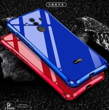 For Huawei mate10pro bumper Metal Frame + Acrylic back cover For mate 10 pro broder 2in1 anti-knock shell frame men china red(China)
