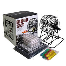 75 Ball Manual Mini Lottery Bingo Game Set Lucky Number Picking for Family Party