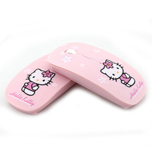 Wireless Mouse Hello Kitty Computer Mice 2.4Ghz USB Computer Mouse Pink Girl Pro Game Mice Gift free ship