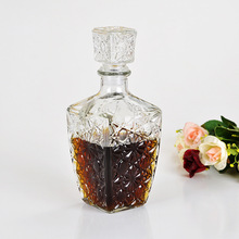 250ml 450ml 1000ml High Quality Glass Whiskey Liquor Wine Drinks Decanter Crystal Bottle Wine Carafe Gift