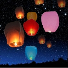 10pcs/lot Sky Lanterns Colorful Chinese Kongming Paper Lantern for Wedding Birthday Party Celebration(China)
