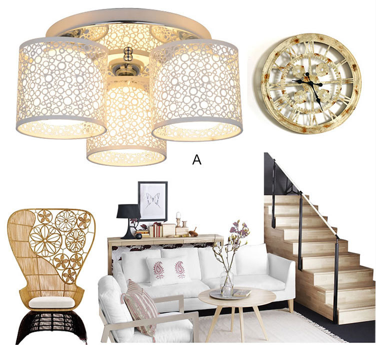 Simple Modern LED Round Ceiling 3 Lamp LED Ceiling Light 44*44*33 40W For Indoor LED light Ceiling Lamp<br><br>Aliexpress