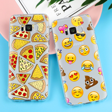 Pizza For iPhone 5 5S SE 6 6S 7 X 8 Plus Case For Samsung Galaxy S5 S6 S7 Edge S8 Plus J3 J5 J7 A3 A5 2016 2017 Grand Prime