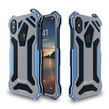 R-JUST Gundam Armor Life Waterproof shockproof Heavy Duty Protection Aluminum Metal Cover Case for iPhone 8 8 Plus X(China)