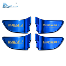 Airspeed 4pcs/lot Door Inner Handle Cover Door Bowl Decoration for Subaru Forester Outback Legacy XV Impreza BRZ WRX Car-styling