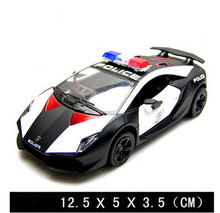 Free shipping brand famous cool Police model car,pull back,model car collection,cars toys,kids gift boy police collection car