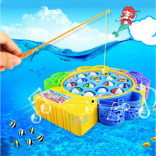 Baby Educational Toys Fish musical Magnetic Fishing Toy Set Fish Game Educational Fishing Toy Child Birthday/Christmas Gift(China)